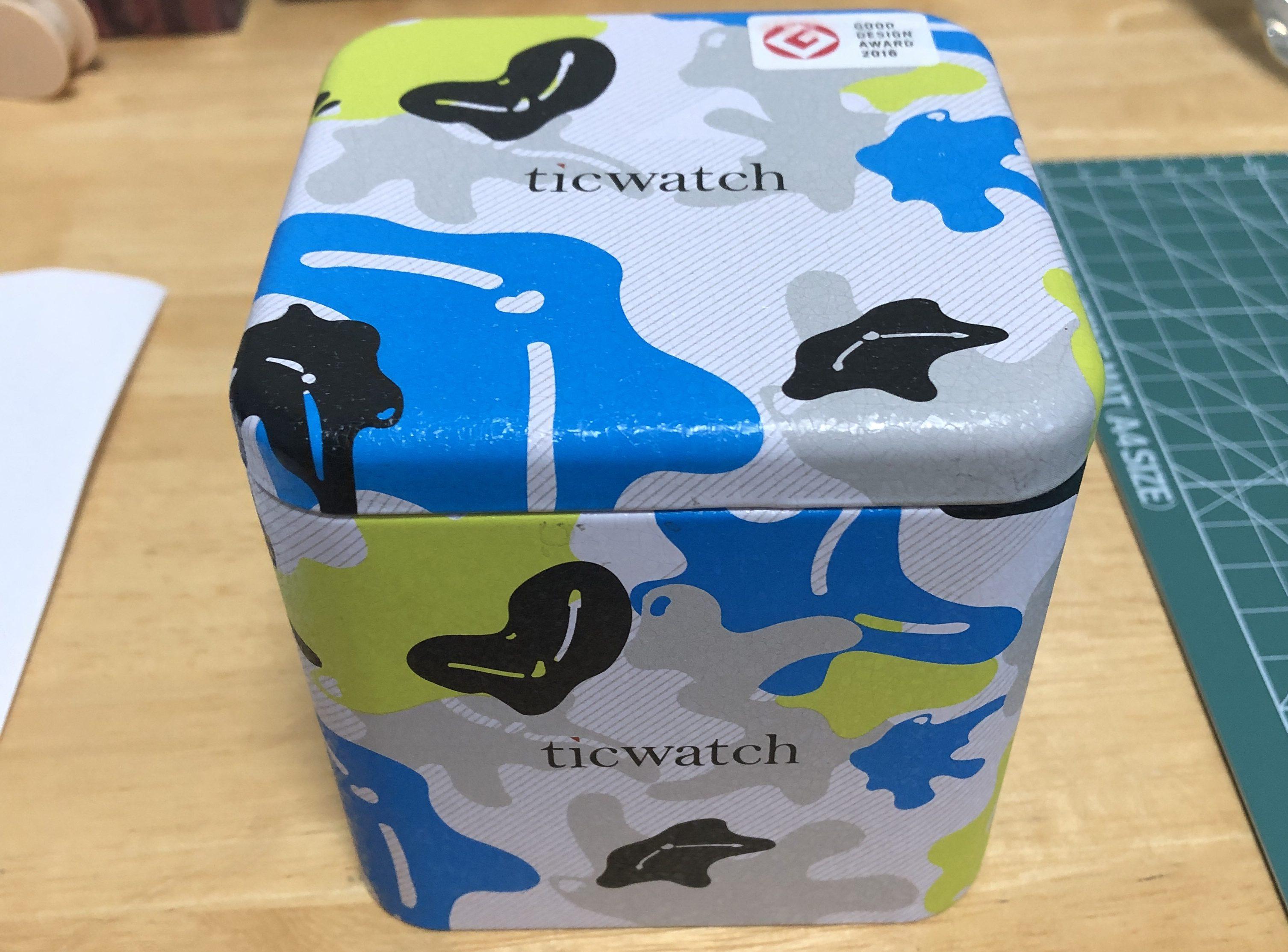 ticwatchの箱画像